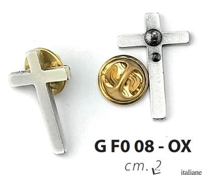 - GFO-08OX CROCE CLERGY METALLO PIATTA -