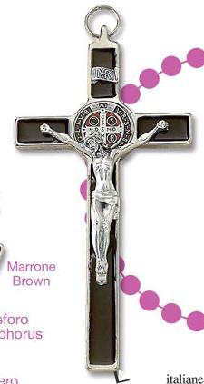 - PG230/SM-N MARRONE S.BENEDETTO CROCE 19X10 CM - CROCE PARETE