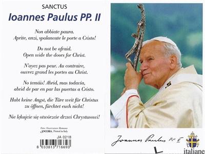 - JA0218 S. GIOVANNI PAOLO II - 7x10,5 cm -