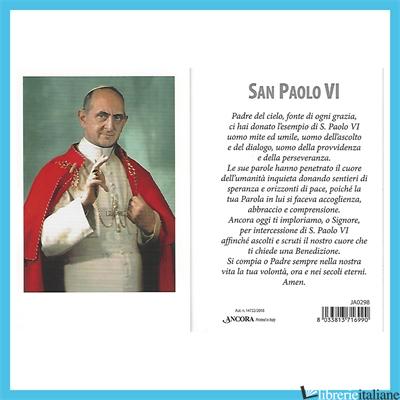 - JA0298 PAOLO VI IMMAGINETTA -