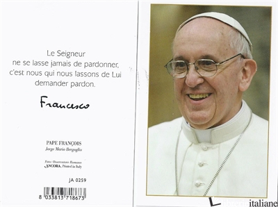- JA0259 FRA PAPA FRANCESCO 7X10,5 -