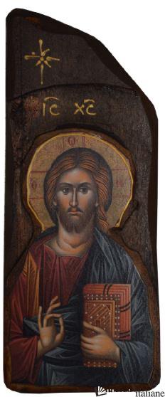 - 8-6 ICONA CRISTO LIBRO CHIUSO 8X20 -