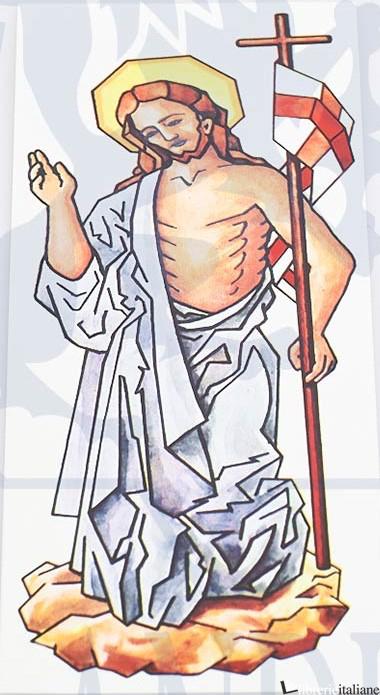 - 2003 DECALCOMANIA CRISTO RIS. 21X7,5 - ACCESSORIO