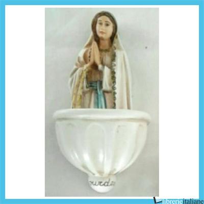 - 1596/CL ACQUASANTIERA MADONNA DI LOURDES CM 13,5 -