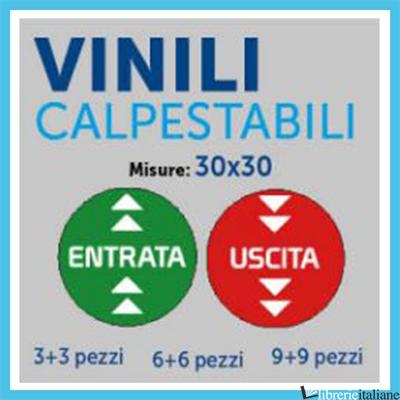 - ENTRATA/USCITA VINILE 30X30 CM CALPESTABILE - SET DA 6 -