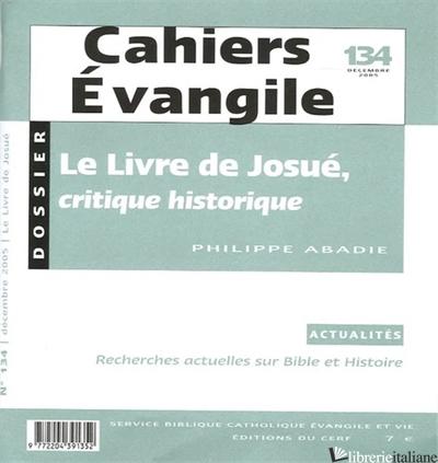 LIVRE DE JOSUE CRITIQUE HISTOR - AA.VV.