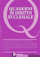 QUADERNI DI DIRITTO ECCLESIALE 1 2010 - AA.VV.