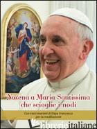 NOVENA A MARIA SANTISSIMA CHE SCIOGLIE I NODI. CON TESTI MARIANI DI PAPA FRANCES - INNOCENTE F. (CUR.)
