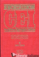ENCHIRIDION CEI. DECRETI, DICHIARAZIONI, DOCUMENTI PASTORALI PER LA CHIESA ITALI - AA VV