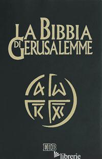 BIBBIA DI GERUSALEMME. EDIZ. PLASTIFICATA (LA) - SCARPA M. (CUR.)