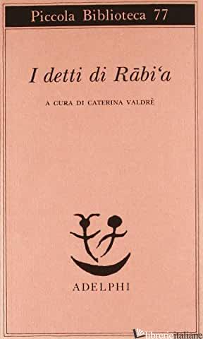 DETTI DI RABI'A (I) - VALDRE' C. (CUR.)