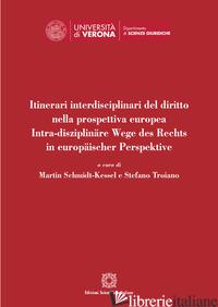 ITINERARI INTERDISCIPLINARI DEL DIRITTO NELLA PROSPETTIVA EUROPEA - SCHMIDT-KESSEL M. (CUR.); TROIANO S. (CUR.)
