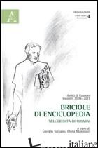 BRICIOLE DI ENCICLOPEDIA. NELL'EREDITA' DI ROSMINI - SALZANO G. (CUR.); MANNUCCI E. (CUR.)