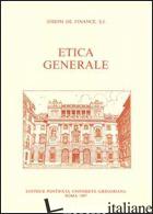 ETICA GENERALE - FINANCE JOSEPH DE; SPROKEL N. (CUR.)