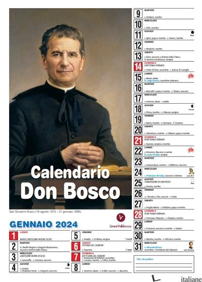 CALENDARIO DON BOSCO 2022 - CM 31X42,5 -