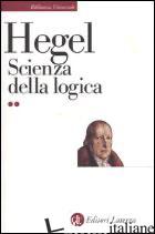 SCIENZA DELLA LOGICA -HEGEL FRIEDRICH
