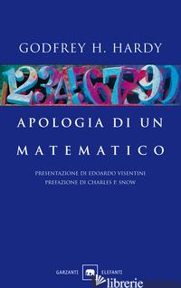 APOLOGIA DI UN MATEMATICO - HARDY GODFREY H.