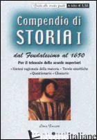 COMPENDIO DI STORIA DAL FEUDALESIMO AL 1650. PER IL TRIENNIO DELLE SCUOLE SUPERI - TUCCERI LIVIA