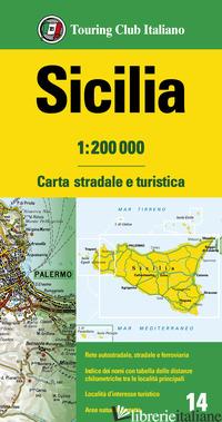 SICILIA 1:200.000. CARTA STRADALE E TURISTICA -