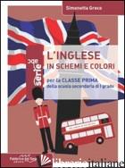 INGLESE IN SCHEMI E COLORI. PER LA 1ª CLASSE DELLA SCUOLA MEDIA (L') - GRECO SIMONETTA