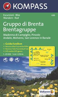 CARTA ESCURSIONISTICA N. 688. TRENTINO, VENETO. GRUPPO DI BRENTA, MADONNA DI CAM - ++++