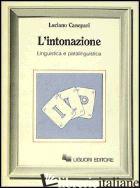 INTONAZIONE. LINGUISTICA E PARALINGUISTICA (L') - CANEPARI LUCIANO