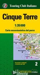 CINQUE TERRE. CARTA ESCURSIONISTICA DEL PARCO. 1:35.000 - AA VV