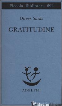 GRATITUDINE - SACKS OLIVER