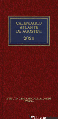 CALENDARIOATLANTE DE AGOSTINI 2020. CON APPLICAZIONE ONLINE - AA.VV.