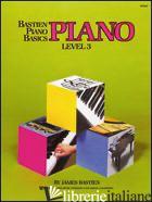 PIANO. 3º LIVELLO - BASTIEN JAMES