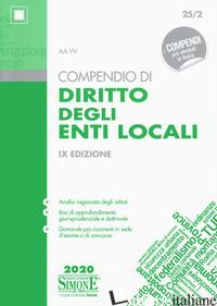 COMPENDIO DI DIRITTO DEGLI ENTI LOCALI - 25/2