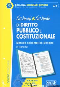 SCHEMI & SCHEDE DI DIRITTO PUBBLICO E COSTITUZIONALE - 2/3