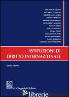 ISTITUZIONI DI DIRITTO INTERNAZIONALE - CARBONE LUZZATTO SANTA MARIA