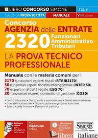CONCORSO AGENZIA DELLE ENTRATE. 2320 FUNZIONARI AMMINISTRATIVO-TRIBUTARI. LA PRO