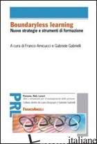 BOUNDARYLESS LEARNING. NUOVE STRATEGIE E STRUMENTI DI FORMAZIONE - AMICUCCI F. (CUR.); GABRIELLI G. (CUR.)