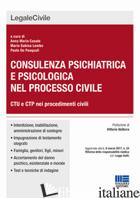 CONSULENZA PSICHIATRICA E PSICOLOGICA NEL PROCESSO CIVILE - LEMBO M. SABINA; CASALE ANNAMARIA; DE PASQUALI PAOLO