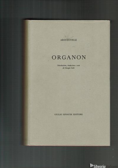 ORGANON - 1955 ANTIQUARIATO -ARISTOTELE A CURA DI GIORGIO COLLI