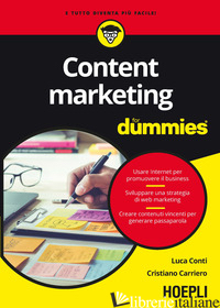 CONTENT MARKETING FOR DUMMIES - CONTI LUCA; CARRIERO CRISTIANO