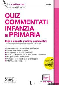 QUIZ COMMENTATI INFANZIA E PRIMARIA CONCORSO SCUOLA - 526/A4