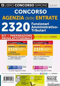 KIT DI PREPARAZIONE PROVA ATTITUDINALE: CONCORSO AGENZIA DELLE ENTRATE. 2320 FUN - 313/6P
