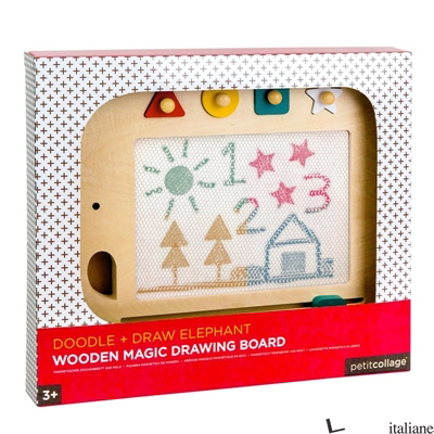 Doodle + Draw Elephant Wooden Magic Drawing Board - PETITCOLLAGE
