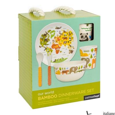 Eco-Friendly Bamboo Baby Dinnerware Set: World - PETITCOLLAGE