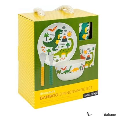 Eco-Friendly Bamboo Baby Dinnerware Set: Dinosaur - PETITCOLLAGE