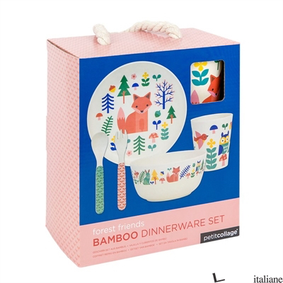 Eco-Friendly Bamboo Baby Dinnerware Set: Forest - PETITCOLLAGE