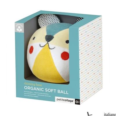 Baby Bear Organic Soft Chime Ball - PETITCOLLAGE
