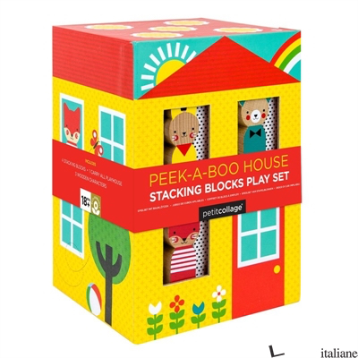 Peek-A-Boo House Stacking Blocks Play Set - PETITCOLLAGE
