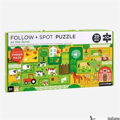 At the Farm Follow + Spot Puzzle - PETITCOLLAGE