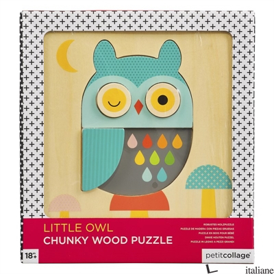 Little Owl Chunky Wood Puzzle - PETITCOLLAGE