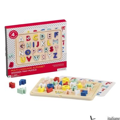 Multi-Language Alphabet Wooden Tray Puzzle - PETITCOLLAGE