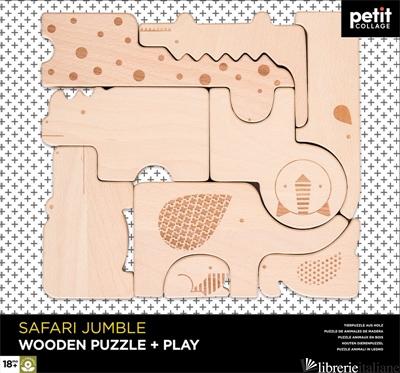 Safari Jungle Wooden Puzzle + Play - PETITCOLLAGE